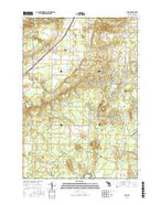 Alba Michigan Current topographic map, 1:24000 scale, 7.5 X 7.5 Minute, Year 2017 from Michigan Map Store
