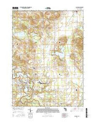 Allegan Michigan Current topographic map, 1:24000 scale, 7.5 X 7.5 Minute, Year 2016