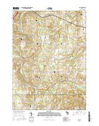 Alto Michigan Current topographic map, 1:24000 scale, 7.5 X 7.5 Minute, Year 2016
