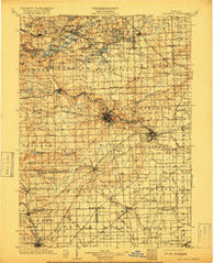Ann Arbor Michigan Historical topographic map, 1:125000 scale, 30 X 30 Minute, Year 1904