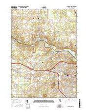 Ann Arbor West Michigan Current topographic map, 1:24000 scale, 7.5 X 7.5 Minute, Year 2017 from Michigan Maps Store