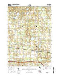 Attica Michigan Current topographic map, 1:24000 scale, 7.5 X 7.5 Minute, Year 2016