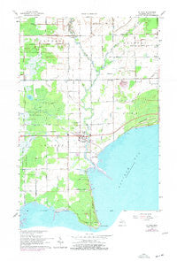 Au Gres Michigan Historical topographic map, 1:24000 scale, 7.5 X 7.5 Minute, Year 1966