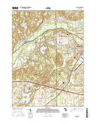 Augusta Michigan Current topographic map, 1:24000 scale, 7.5 X 7.5 Minute, Year 2016