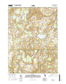 Banfield Michigan Current topographic map, 1:24000 scale, 7.5 X 7.5 Minute, Year 2016