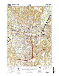 Battle Creek Michigan Current topographic map, 1:24000 scale, 7.5 X 7.5 Minute, Year 2016