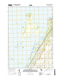 Bay Port West Michigan Current topographic map, 1:24000 scale, 7.5 X 7.5 Minute, Year 2016