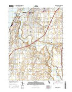 Benton Harbor Michigan Current topographic map, 1:24000 scale, 7.5 X 7.5 Minute, Year 2017 from Michigan Map Store