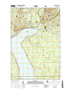 Bergland Michigan Current topographic map, 1:24000 scale, 7.5 X 7.5 Minute, Year 2017 from Michigan Map Store