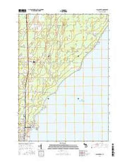 Birch Creek Michigan Current topographic map, 1:24000 scale, 7.5 X 7.5 Minute, Year 2016 from Michigan Maps Store