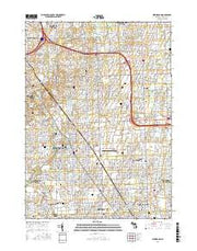 Birmingham Michigan Current topographic map, 1:24000 scale, 7.5 X 7.5 Minute, Year 2017 from Michigan Maps Store