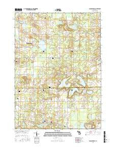 Bloomingdale Michigan Current topographic map, 1:24000 scale, 7.5 X 7.5 Minute, Year 2016