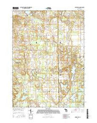 Bowens Mill Michigan Current topographic map, 1:24000 scale, 7.5 X 7.5 Minute, Year 2016