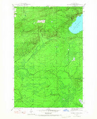 Bruneau Creek Michigan Historical topographic map, 1:24000 scale, 7.5 X 7.5 Minute, Year 1946