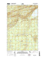 Bruneau Creek Michigan Current topographic map, 1:24000 scale, 7.5 X 7.5 Minute, Year 2017 from Michigan Map Store