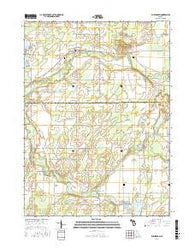 Burlington Michigan Current topographic map, 1:24000 scale, 7.5 X 7.5 Minute, Year 2016