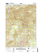 Butman Michigan Current topographic map, 1:24000 scale, 7.5 X 7.5 Minute, Year 2017 from Michigan Map Store