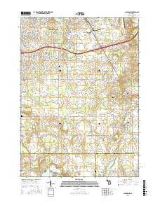 Caledonia Michigan Current topographic map, 1:24000 scale, 7.5 X 7.5 Minute, Year 2016