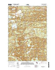 Carney Lake Michigan Current topographic map, 1:24000 scale, 7.5 X 7.5 Minute, Year 2016 from Michigan Maps Store