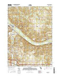 Cascade Michigan Current topographic map, 1:24000 scale, 7.5 X 7.5 Minute, Year 2016