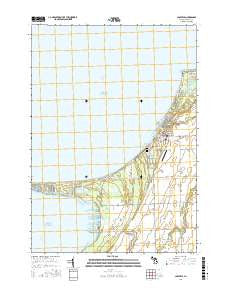 Caseville Michigan Current topographic map, 1:24000 scale, 7.5 X 7.5 Minute, Year 2016