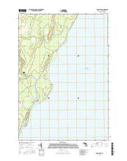 Cedar River Michigan Current topographic map, 1:24000 scale, 7.5 X 7.5 Minute, Year 2016 from Michigan Maps Store