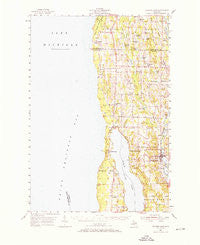 Central Lake Michigan Historical topographic map, 1:62500 scale, 15 X 15 Minute, Year 1954