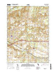 Ceresco Michigan Current topographic map, 1:24000 scale, 7.5 X 7.5 Minute, Year 2016