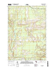 Chandler Michigan Current topographic map, 1:24000 scale, 7.5 X 7.5 Minute, Year 2016 from Michigan Maps Store
