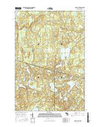 Chaney Lake Michigan Current topographic map, 1:24000 scale, 7.5 X 7.5 Minute, Year 2017 from Michigan Map Store