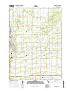 Chesaning East Michigan Current topographic map, 1:24000 scale, 7.5 X 7.5 Minute, Year 2016 from Michigan Map Store