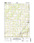 Chesaning West Michigan Current topographic map, 1:24000 scale, 7.5 X 7.5 Minute, Year 2016 from Michigan Map Store