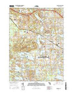 Clarkston Michigan Current topographic map, 1:24000 scale, 7.5 X 7.5 Minute, Year 2017 from Michigan Map Store