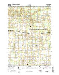 Clifford Michigan Current topographic map, 1:24000 scale, 7.5 X 7.5 Minute, Year 2016