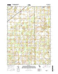 Climax Michigan Current topographic map, 1:24000 scale, 7.5 X 7.5 Minute, Year 2016