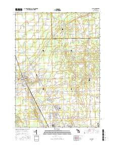 Clio Michigan Current topographic map, 1:24000 scale, 7.5 X 7.5 Minute, Year 2016