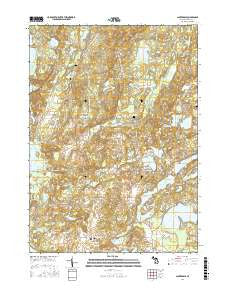 Cloverdale Michigan Current topographic map, 1:24000 scale, 7.5 X 7.5 Minute, Year 2016