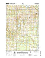 Coleman NE Michigan Current topographic map, 1:24000 scale, 7.5 X 7.5 Minute, Year 2016 from Michigan Map Store