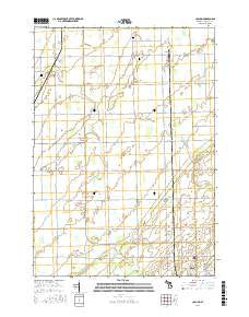 Colling Michigan Current topographic map, 1:24000 scale, 7.5 X 7.5 Minute, Year 2016