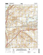 Coloma Michigan Current topographic map, 1:24000 scale, 7.5 X 7.5 Minute, Year 2017 from Michigan Map Store