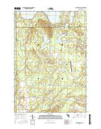 Comstock Hills Michigan Current topographic map, 1:24000 scale, 7.5 X 7.5 Minute, Year 2017 from Michigan Map Store
