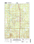 Cooperton Michigan Current topographic map, 1:24000 scale, 7.5 X 7.5 Minute, Year 2017 from Michigan Map Store