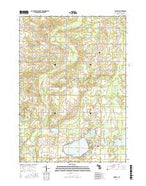 Crystal Michigan Current topographic map, 1:24000 scale, 7.5 X 7.5 Minute, Year 2016 from Michigan Map Store