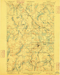Crystal Falls Michigan Historical topographic map, 1:62500 scale, 15 X 15 Minute, Year 1899