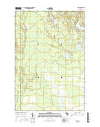 Cusino Michigan Current topographic map, 1:24000 scale, 7.5 X 7.5 Minute, Year 2017 from Michigan Map Store