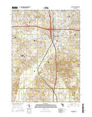 Cutlerville Michigan Current topographic map, 1:24000 scale, 7.5 X 7.5 Minute, Year 2016 from Michigan Maps Store