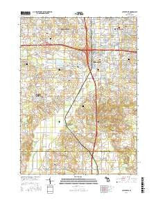 Cutlerville Michigan Current topographic map, 1:24000 scale, 7.5 X 7.5 Minute, Year 2016