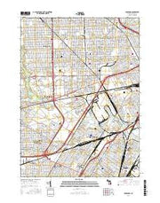 Dearborn Michigan Current topographic map, 1:24000 scale, 7.5 X 7.5 Minute, Year 2017 from Michigan Maps Store