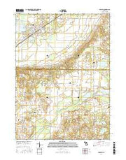 Decatur Michigan Current topographic map, 1:24000 scale, 7.5 X 7.5 Minute, Year 2016 from Michigan Maps Store