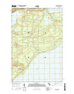 Deer Lake Michigan Current topographic map, 1:24000 scale, 7.5 X 7.5 Minute, Year 2017 from Michigan Map Store